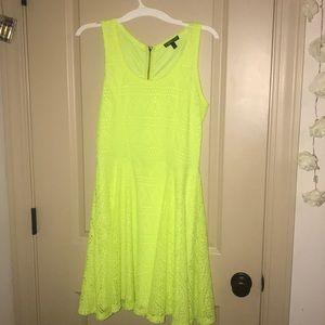 Neon Yellow Express dress